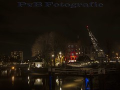 Oudehaven Rotterdam (PvB Fotografie) Tags: city haven holland water netherlands dutch night lights harbor photo rotterdam foto fotografie photographer nightshot outdoor nederland olympus maas oude stad lichtjes rivier fotograaf e510 oudehaven pvb olympuse510 nightfotography pvbfotografie