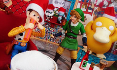 Christmas Party 3 (RandomWatts) Tags: christmas holiday beer toy photography action ninja spiderman woody turtles drugs figure link pokemon booze zelda michelangelo playhouse legend 3rd lupin peewee tmnt psyduck 2015 jigen deadpool revoltech
