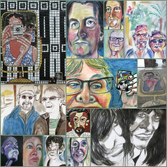 Nov/Dec +Juan from Oct (Gila Mosaics n'stuff) Tags: art portait compilation portraitparty jkpp picmonkey