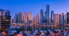 Dubai Marina (PhiiiiiiiL) Tags: dubai marina mall blue hour panorama city cityscape skyline outdoor architektur stadt