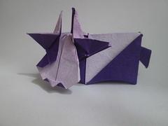Yoshimasa Tsuruta's Cow (georigami) Tags: origami papiroflexia papel paper
