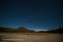 Under a full moon (RichHaig) Tags: longexposue fullmoon beehive nighttime landscape stars sandbeach maine acadianationalpark me mdi nikond800 richhaig barharbor gitzotripod fence long exposure