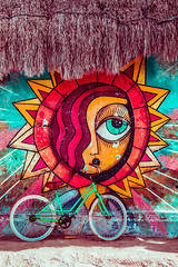 The Eye in the Sky (Luis Montemayor) Tags: bici bicicleta sun sol beach playa hoblox sand arena bicycle