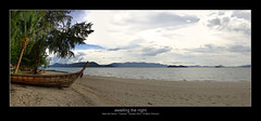 awaiting the night (Armitage77) Tags: awaitingthenight boat boot beach strand palm palmen island insel sea meer nakanoi thailand panorama hdr canon eos 5dmarkii tonemapping