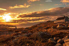 The House By The Sea II (Fredrik Lindedal) Tags: coast orange yellow light sweden sverige sky skyline stones serene sunlight sunrays sea house nikon ocean visitsweden seascape red sunset outdoor fredriklindedal