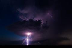 Benjamin (Mike Olbinski Photography) Tags: 20160614 canon5dmarkiii benjamin canon1635mm28l hail lightning rain stormchasing storms sunset supercells texas