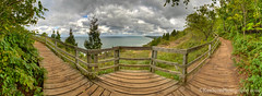 Color Tour ... view from Empire Bluff, early fall (Ken Scott) Tags: empirebluff trail boardwalk view southmanitouisland panorama fence leelanau michigan usa 2016 september fall autumn 45thparallel hdr kenscott kenscottphotography kenscottphotographycom freshwater greatlakes lakemichigan sbdnl sleepingbeardunenationallakeshore voted mostbeautifulplaceinamerica