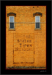 United States Tires Clarksville MI (the Gallopping Geezer '4' million + views....) Tags: sign signage ghostsign wallsign painted wall building structure worn faded old historic ad advertise advertisement product smalltown backroads clarksville mi michigan rural country bonies canon 5d3 sigma 24105 geezer 2016 weathered decay decayed