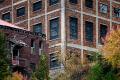 Not Hiring (Scott Allan Photography) Tags: northidaho decay outofbusiness mines mining bricks trees fallcolor brokendown ghosttown buildings architecture