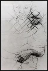 Ernest Pignon Ernest (Gramgroum) Tags: ernest pignon ernestpignonernest nice retrospective mamac stret art graffiti collage noir croquis sticker chine encre crayon