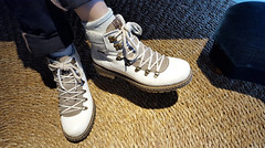 - at the 'Cozy Cafe' - (Jac Hardyy) Tags: cozy cafe shoes woman girl boots trendy fancy fashionable feet white country style schuhe schuh füse frau landhausstil weis modisch schick trachten trachtenboots gemütlich im gemütlichen bootlace shoelace shoelaces bootlaces