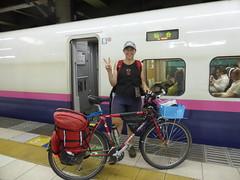 Nice station staff in Ueno this time (Stop carbon pollution) Tags: japan 日本 honshuu 本州 bicycle shinkansen kantou 関東 toukyou tokyo 東京
