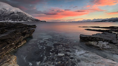 Oldervik (christian.denger) Tags: norway troms oldervik canon eos6d canon1635f4 longexposure lee filters arctic pool mountain wideangle rocks landscape seascape atlantic snow nordatlantik cold stativ outdoor 16mm photography felsen february tripod journey travel kste dslr coast stein langzeitbelichtung landschaft chrisdenger elementspictures