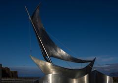 Le vent ... (The wind...) (Larch) Tags: bateau voilier islande iceland boat sailingboat aluminium vent wind stykkisholmur aheimleid mouvement élan impetus movement sculpture