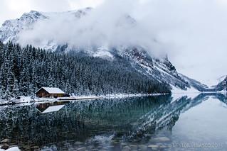 A cabin in Lake Louise. Alberta, Canada.