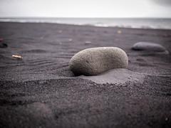 Black Sand and Rock (TheSimonBarrett) Tags: iceland lveldi sland beach vik