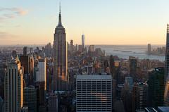 Empire State Building (BrainNY08) Tags: 30rock empirestatebuilding newyork newyorkcity nikon nikond7000 goldenhour sunset topoftherock rockefellercenter