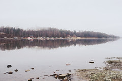 Frosty morning (anek07) Tags: frosty morning lake fryken highkey winter white stones sweden sverige sjö sky misty mist mirror spegel spegelbild spegling