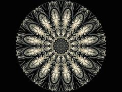Cameo Mandala (Susan Maxwell Schmidt) Tags: mandala kaleidoscope filigreedesign geometricalart geometricabstractart wallart homedecor blackandwhite cameomandala susanmaxwellschmidt tibet tibetanmandala prism prismatic intricate repeatingpattern spiritual zenbuddhism carved engraved relief trippy psychedelic elegant fancy elegance sophisticated dimensionaldesign ivory beige gray grey blackbackground detail detailed contemporary interiordesigner decorator modern postmodern round circle circular artwork monochrome monotone monochromatic neutral grayscale unique trendy edgy reflection refraction