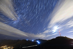 Signals (danhan27) Tags: astro astrophotography stars star trails night sky light clouds cars nz new zealand rapaki port hills christchurch flow headlights long exposure nikon d750 startrails