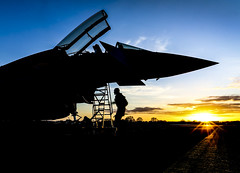 (aeroman3) Tags: multirole fgr4 typhoon combat aircraft equipment 11sqn 11squadron aew airdefenceandairborneearlywarning sqn squadron raf royalairforce sillouette nightoperations nightflying exercisegriffinstrike rafphotographiccomp sunset gatenby northyorkshire uk