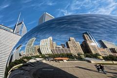 The Bean (Lucille-bs) Tags: amrique etatsunis usa illinois chicago sculpture thebean cloudgate reflet cielbleu building architecture greatphotographers