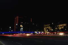 Lahore Never Sleeps (eemoboo) Tags: gulberg lahore latenight lights thecityofgardens light trails tricon towers flyover