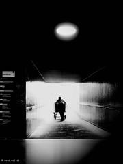 final work (Ren Mollet) Tags: blackandwhite bw monchrom monochromphotographie street streetphotography shadow silhouette station work fianal renmollet olympus penf zuiko 35mm tube