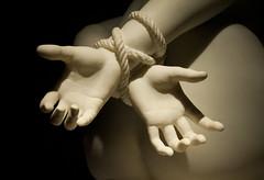 DSC_8160 (E.Hunt.) Tags: hands tied marble statue binding bound glyptoteket copenhagen arms rope stone chiaroscuro stark light dark fingers palm