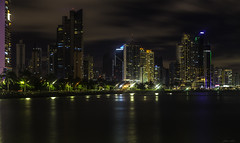 Panama Nights (Bernai Velarde-Light Seeker) Tags: panama city central america centro ciudad urban urbano buildings edificios apartments apartamentos sea mar ocean oceano pacific pacifico bernai velarde