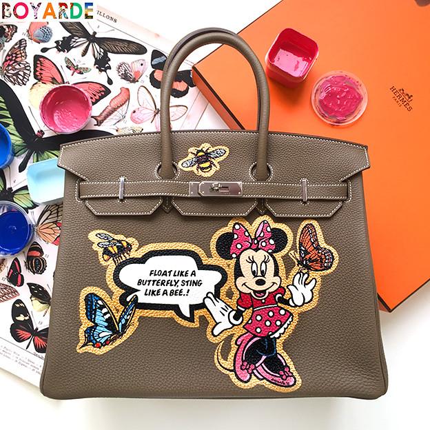 Bespoke Hermes Minnie Mouse Birkin (boyarde) Tags  1950s hollywood  oldhollywood accessories comic initials b9ce46449bdc7