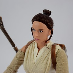 Star Wars Elite Series Rey Premium Action Figure - Disney Store Purchase - Deboxed - Freestanding - Portrait Right Front View (drj1828) Tags: starwars theforceawakens rey figure actionfigure purchase disneystore eliteseries premium posable 10inch deboxed freestanding