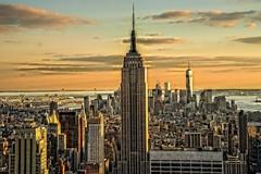 From Top of The Rock (donato bellomo) Tags: newyork topoftherock sunset empirestatebuilding