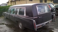 Cadillac Hearse (Stevie Silvester) Tags: gm generalmotors general motors cadillac millermeteor hearse death mobile vintage vehicle 503 portland oregon ptown pdx pnw st johns saintjohns stjohns north northportland cathedral park neighborhood