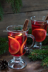 Two glasses cup of Christmas hot mulled wine (victoria.kondysenko) Tags: alcohol anise aromatic beverage celebration christmas cinnamon cocktail dark decoration delicious drink fir food glass glint gluhwein grog holiday homemade hot lemon mulled new orange punch red season slate spiced spicy spruce sweet table traditional tree warm wine winter xmas year