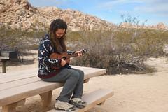 Ukulele Player in Indian Cove (Joshua Tree National Park) Tags: nationalpark joshuatree joshuatreenationalpark ukulele music musician camping