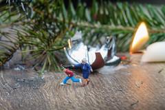2.Advent (Hobbyallradler) Tags: eisenbahnfiguren modellbahnfiguren modelleisenbahn preiser bsebuben advent kerze