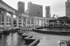 Merdeka Square, Kuala Lumpur, Malaysia (bm^) Tags: travel kualalumpur maleisi merdeka square malaysia my distagont228 distagon282zf nikon d700 bw blackandwhite black white blackwhitephotos zf2 zeiss carl nikond700 zwart wit zwartwit reis carlzeiss city urban architecture skycrapers