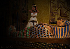 The King is Dead (carmsie.melodie) Tags: ancient egypt sl secondlife egyptian sarcophagus slphotography slart carmsiemelodie
