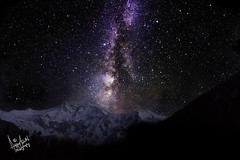 Mighty Killer Mountain under Mighty Milky Way (iffi's photography) Tags: nightphotography travel pakistan snow mountains night stars landscape glaciers himalayas milkyway sku worldphotographyday nangaparbat killermountain baltistan fairymeadows 9thhighest