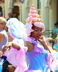 Seashell Princess (jordanhall81) Tags: world sea ariel festival orlando princess little florida character magic under kingdom dancer disney parade resort fantasy seashell mermaid wdw walt performer mk fof festivaloffantasy