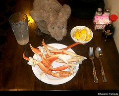 Dr. Takeshi Yamada and Seara (Coney Island Sea Rabbit) at the Seaport Chinese Buffet Restaurant in sheepshead Bay in brooklyn, NY on September 8, 2015. boiled/steamed snow crab legs. 20150908 100_9943=0010rC (searabbits23) Tags: ny newyork sexy celebrity art hat fashion animal brooklyn painting sushi asian coneyisland japanese star restaurant tv google king artist dragon god manhattan wildlife famous gothic goth chinese performance pop taxidermy cnn tuxedo bikini tophat unitednations playboy entertainer samurai genius buffet mermaid amc johnnydepp mardigras salvadordali unicorn billclinton billgates aol vangogh curiosities sideshow jeffkoons globalwarming takashimurakami pablopicasso steampunk damienhirst cryptozoology freakshow barackobama seara immortalized takeshiyamada museumofworldwonders roguetaxidermy searabbit ladygaga climategate minnesotaassociationofroguetaxidermists