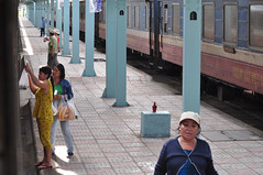 Fresh food (Roving I) Tags: travel women trains villages vietnam selling platforms foodvendors stations breadrolls