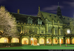 Quadrangle @ Night, University of Sydney, Australia (JH_1982) Tags: new old travel light sky building travelling wales architecture night canon buildings dark campus eos lights evening noche university darkness nacht south famous main sydney australia landmark quad illuminated historic nsw lit australien traveling tamron nuit quadrangle notte australie 18mm        270mm  60d   sdney