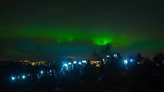 Nature VS Technology (Max Ozerov) Tags: longexposure sky people norway norge aurora bergen bildekritikk boreals