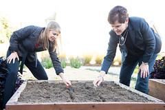 USDA and NASA Partnership Event (NHQ201510050027) (NASA HQ PHOTO) Tags: nasa seeds dirt shovels planting usda raisedbed peoplesgarden redromainelettuce davanewman krystaharden aubreygemignani