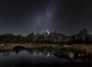 moonlight on the Tetons