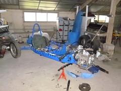 Panhard Monomill bleue (gueguette80 ... non voyant pour une dure indte) Tags: old cars competition db autos octobre racer panhard atelier anciennes 2015 franaises monomil