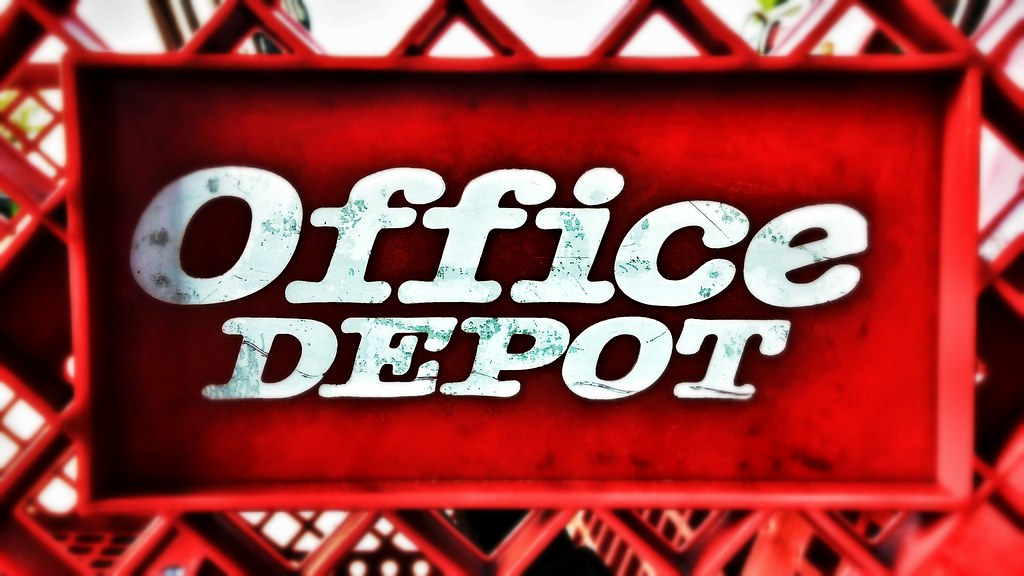 Office DEPOT (Retail Retell) Tags: County Retail Office Store Exterior Ms  Depot Mirrored .