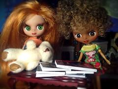 Blythe-a-Day November#15 Stacks & Piles: Ginnie & Lola Clean Up